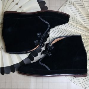 80%20 Suede Heeled Toggle Booties size 9